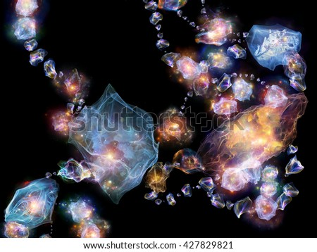Jewels for Martian Girl series. Backdrop of  colorful organic forms and lights to complement your design on the subject of jewelry, beauty, art, science, magic and imagination - stock photo