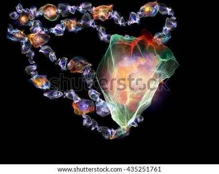 Jewels for Martian Girl series. Composition of colorful organic forms and lights suitable as a backdrop for the projects on jewelry, beauty, art, science, magic and imagination - stock photo