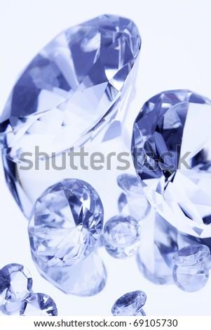 Jewels on mirror background - stock photo