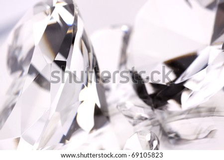 Jewels on mirror background - stock photo