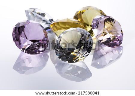Jewels on white background - stock photo