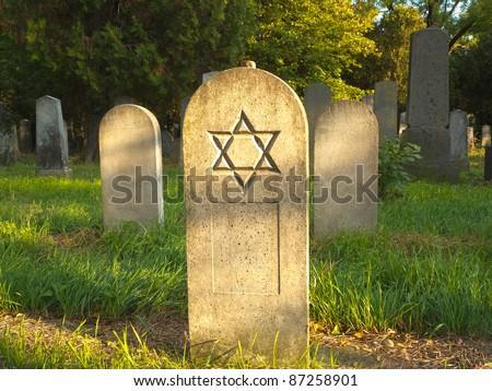 Jewish Cemetery - stock photo