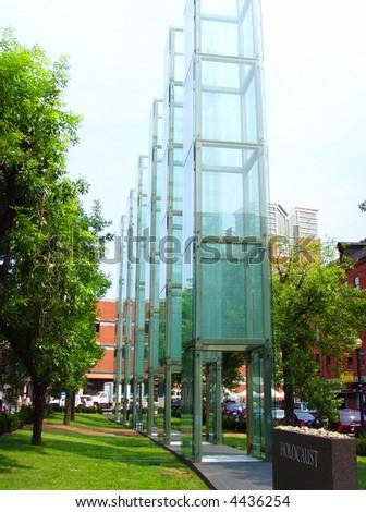 Jewish Glass Holocaust Memorial, Boston - stock photo