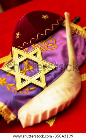 Jewish items - stock photo