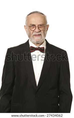 jewish man portrait - stock photo