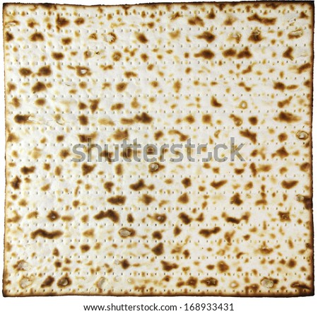 Jewish pastry made of flour and water, ready for the Passover