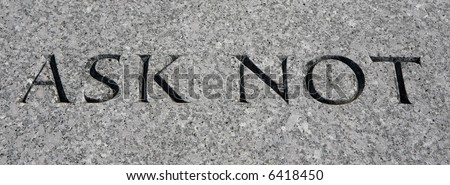 JFK memorial, Arlington Cemetery. - stock photo
