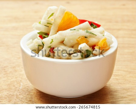 Jicama salad - stock photo