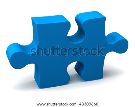 Jigsaw Piece - stock photo