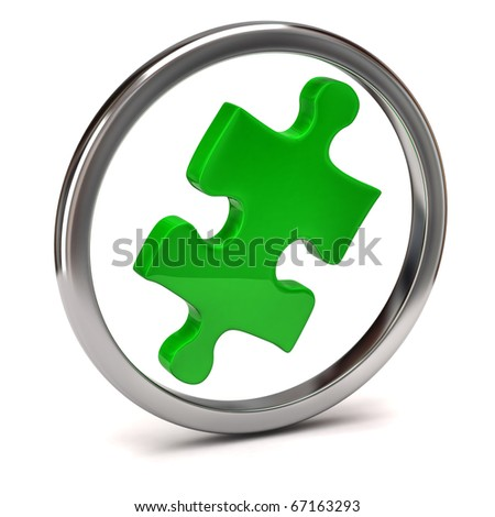 Jigsaw Piece - stock photo