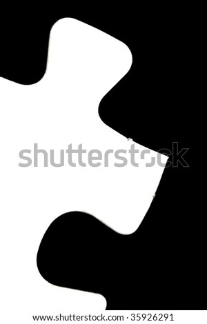 Jigsaw pieces isolated against a black background