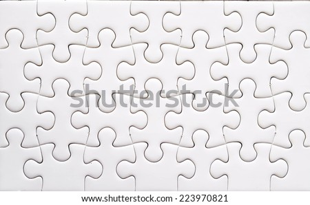Jigsaw puzzle, background - stock photo