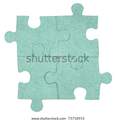 Jigsaw puzzle background - stock photo