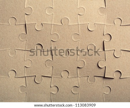 Jigsaw puzzle. Background or texture - stock photo
