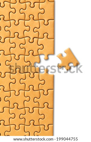 Jigsaw Puzzle clipping path - stock photo
