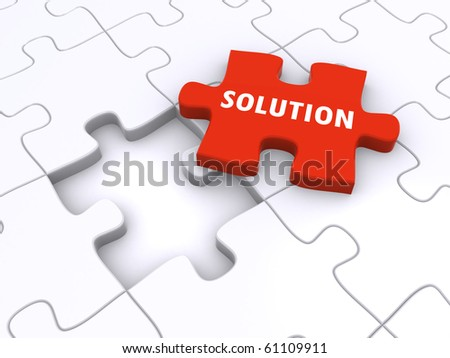 jigsaw puzzle concept - stock photo
