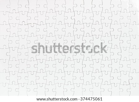 jigsaw puzzle pieces. Business concept. Compliting final task - stock photo