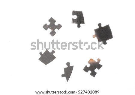 jigsaw puzzle pieces isolated