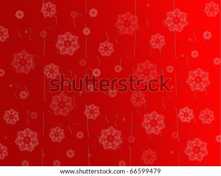 Jigsaw puzzle pieces isolated against a white background