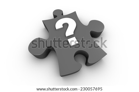 Jigsaw Puzzle Question Mark - stock photo