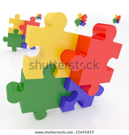 Jigsaw Puzzle representing teamwork and success.