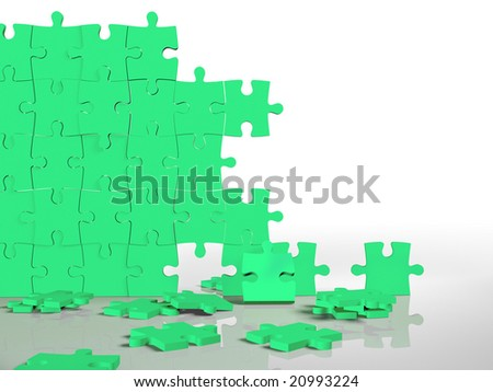 jigsaw puzzle wall