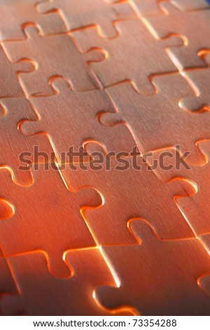 jigsaw puzzle with back light - stock photo