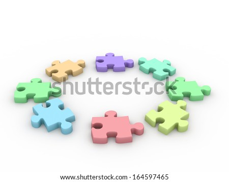 Jigsaw puzzles - stock photo