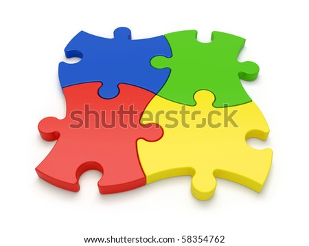 jigsaw puzzles - more variations in portfolio - stock photo