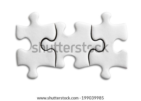 Jigsaw Puzzles Piece  - stock photo