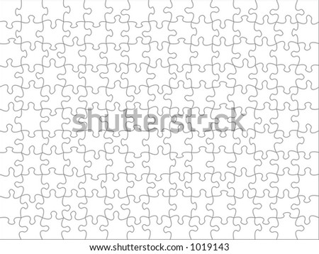 Jigsaw texture to overlay any picture - stock photo
