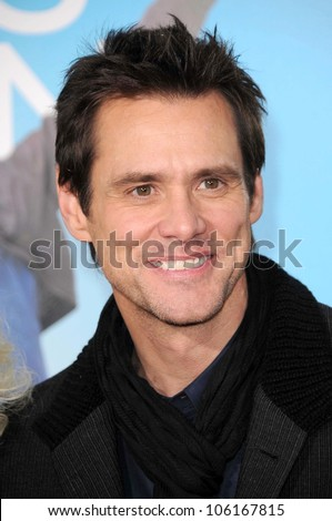 Jim Carrey   at the Los Angeles Premiere of 'Yes Man'. Mann VIllage Theater, Westwood, CA. 12-17-08 - stock photo