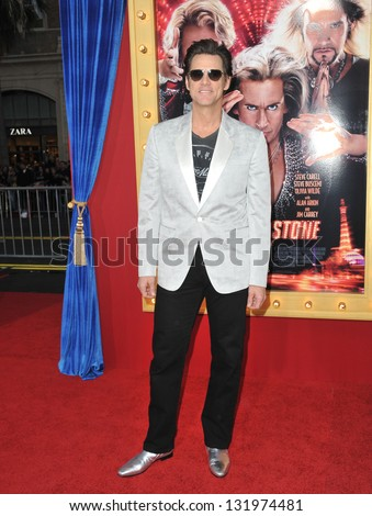 """Jim Carrey at the world premiere of his movie """"The Incredible Burt Wonderstone"""" at the Chinese Theatre, Hollywood. March 11, 2013  Los Angeles, CA Picture: Paul Smith - stock photo"""