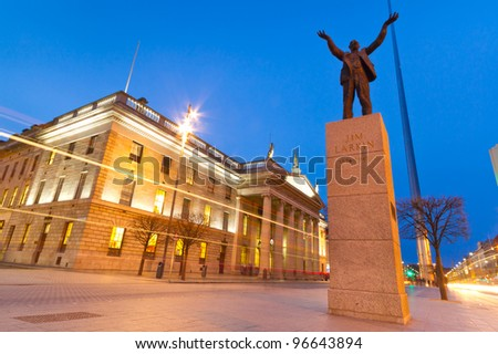 Jim Larkin monument in Dublin city centre, Ireland - stock photo