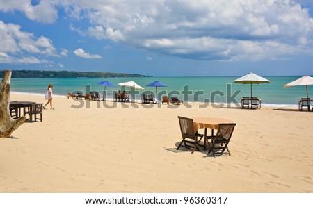 Jimbaran beach in Bali, Indonesia - stock photo