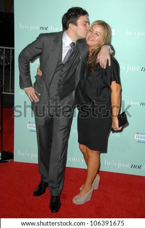 Jimmy Fallon and Nancy Juvonen  at the World Premiere of 'He's Just Not That Into You'. Grauman's Chinese Theatre, Hollywood, CA. 02-02-09 - stock photo