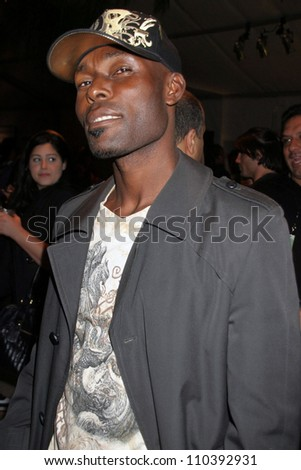 Jimmy Jean-Louis at day one of the 2007 Mercedes Benz Fashion Week. Smashbox Studios, Culver City, CA. 10-14-07