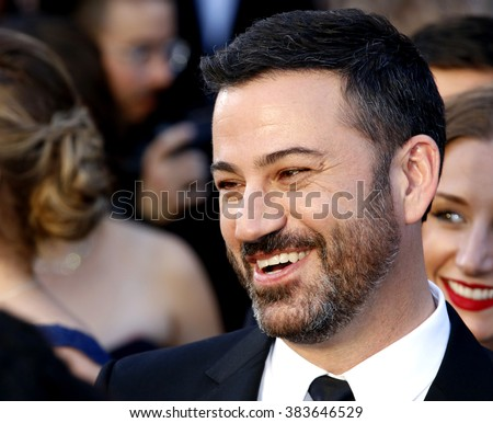 Jimmy Kimmel at the 88th Annual Academy Awards held at the Hollywood & Highland Center in Hollywood, USA on February 28, 2016. - stock photo