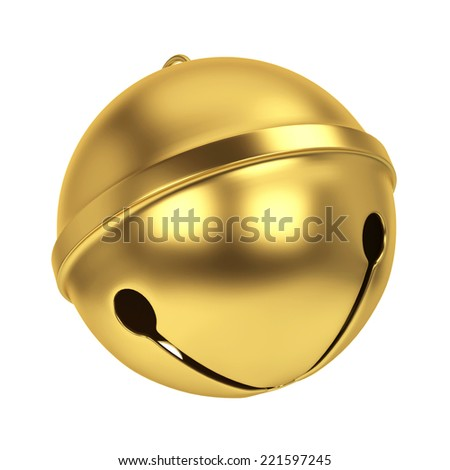 Jingle bell. 3d illustration isolated on white background - stock photo