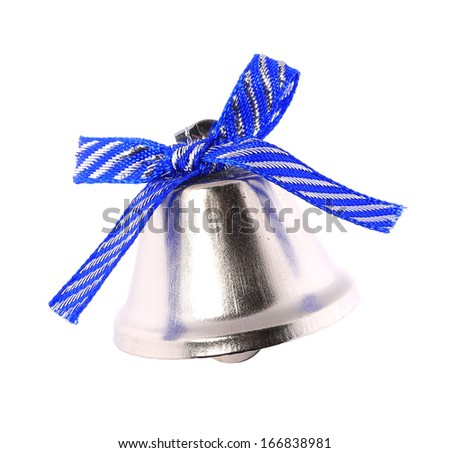 Jingle bell for christmas tree. Isolated on a white background. - stock photo