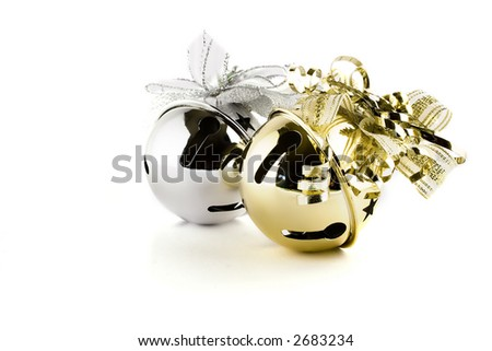 Jingle bells isolated on white - stock photo