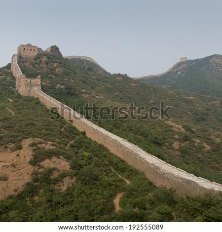 Jinshanling section of Great Wall Of China, Beijing, China - stock photo