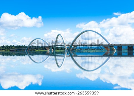 JK Bridge in Brasilia, Brazil - stock photo