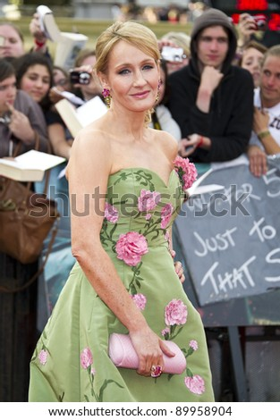 JK Rowling arriving for the World Premiere of 'Harry Potter & the Deathly Hallows pt2', Trafalgar Square, London. 07/07/2011  Picture by: James McCauley / Featureflash - stock photo