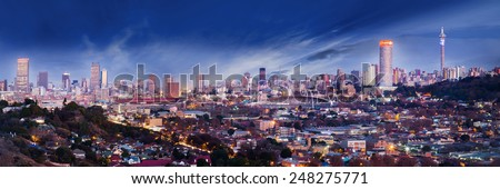 Jo'burg Skyline - stock photo