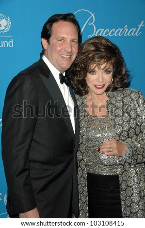 Joan Collins and husband Percy Gibson at the 2009 UNICEF Ball Honoring Jerry Weintraub, Beverly Wilshire Hotel, Beverly Hills, CA. 12-10-09