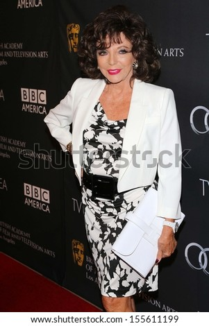Joan Collins at the BAFTA Los Angeles TV Tea 2013, SLS Hotel, Beverly Hills, CA 09-21-13 - stock photo