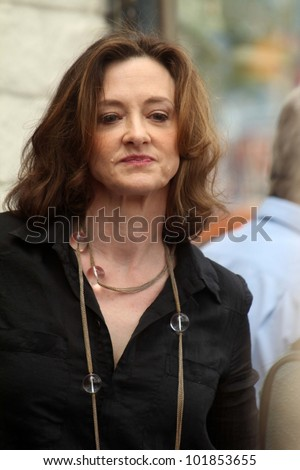 Joan Cusack at the John Cusack Star On The Hollywood Walk Of Fame, Hollywood, CA 04-24-12 - stock photo