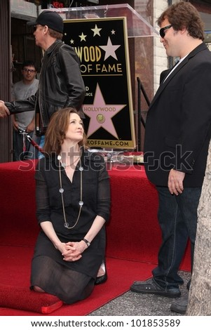 Joan Cusack, Jack Black at the John Cusack Star On The Hollywood Walk Of Fame, Hollywood, CA 04-24-12 - stock photo