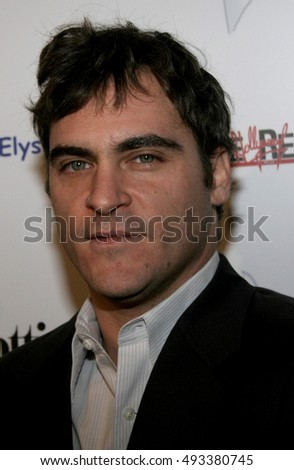 Joaquin Phoenix at the Art of Elysium Presents Russell Young 'fame, shame and the realm of possibility' held at the Minotti in West Hollywood, USA on November 30, 2005.
